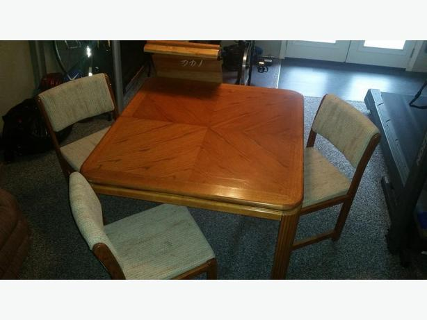 Dining room table & 3 chairs