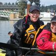 Kayak adventures for woman in The Gulf Islands