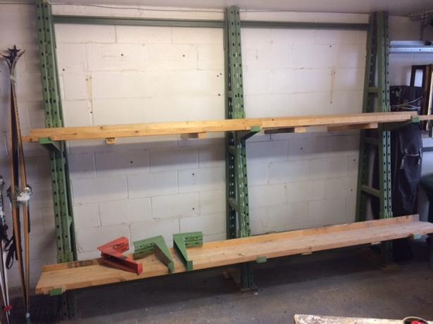 Heavy-duty shelves