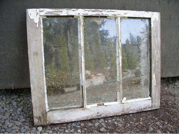 1940's Wooden Frame Window