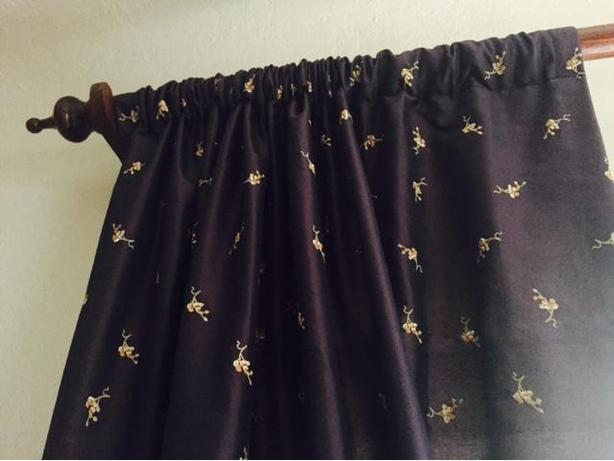 Chintz & Co 100% silk custom made curtains (two pairs)