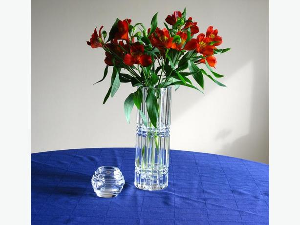 Beautiful Crystal Vase plus Crystal Votive Holder