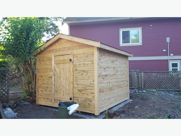 Quality cedar garden sheds. Professional installs.