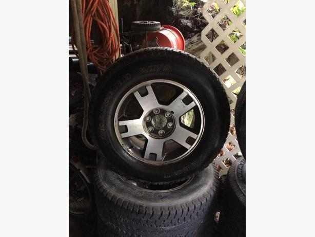2005 ford f-150 rims and tires