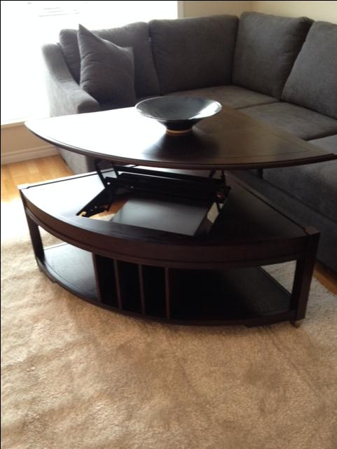 Coffee table with lift top courtenay courtenay comox mobile for Coffee tables london ontario
