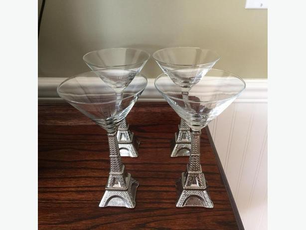 Set of 4 Eiffel Tower Martini Glasses Victoria City, Victoria