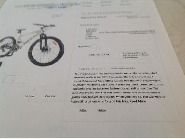 ccm apex 26 in full suspension mountain bike manual