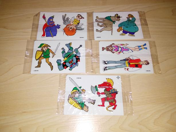 Set Of 5 Vintage Captain N Nintendo Mario Stickers - NEW!