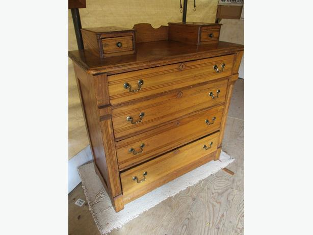 1800S ELM CHEST OF DRAWERS FROM GREAT GRAMMA