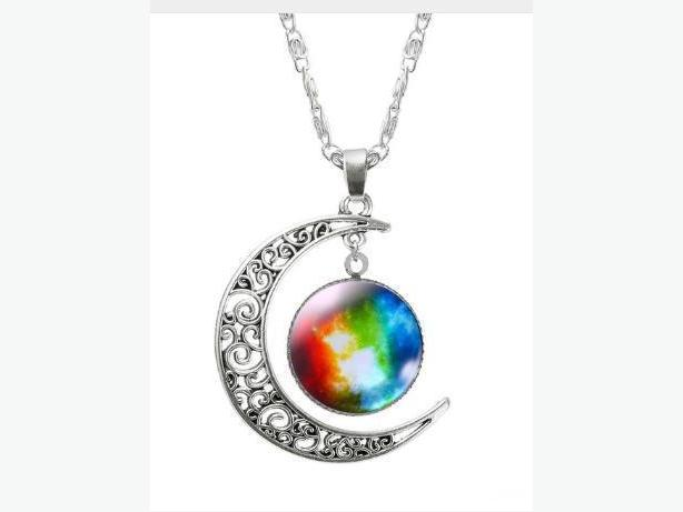 New Silver Moon Pendants and Necklace - $12