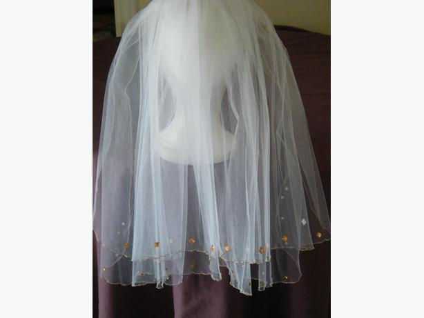 FREE: White two tiers veil