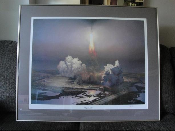 """Lightship"" (1984) Framed Print (28"" x 34""), signed by Atilla Hejja"