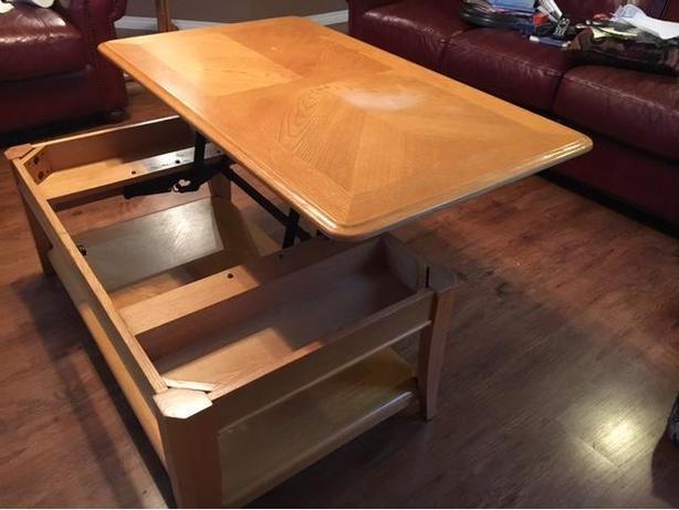 lift up coffee table cedar