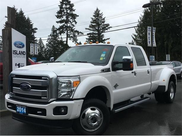 2014 ford f 450 super duty drw lariat platinum one owner accident free outside victoria victoria. Black Bedroom Furniture Sets. Home Design Ideas
