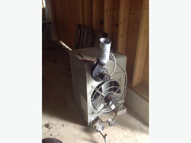 Modine propane fired unit heater