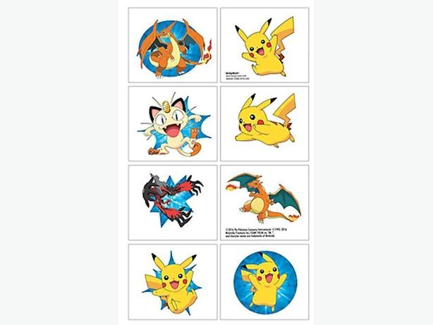 Pokemon Pikachu & Friends Set of 8 Tattoos - $3 per set