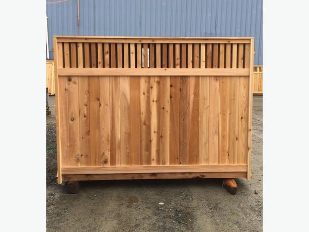 THICKEST CEDAR  FENCE PANEL STARTING At $70.00