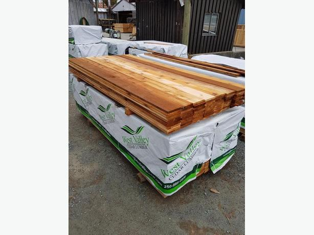 1x6 Cedar Tight Knot S1S