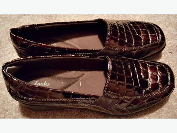 Clark's Brown Patent Leather Loafers