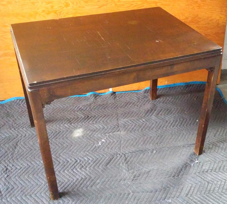 Vintage small wooden dining table new price saanich for Dining room tables victoria bc