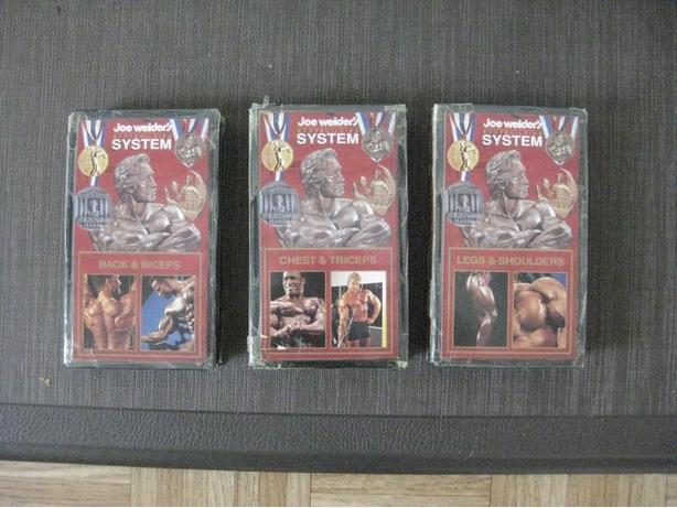 COLLECTABLES : 3- VHS JOE WEIDER BODYBUILDING SYSTEM