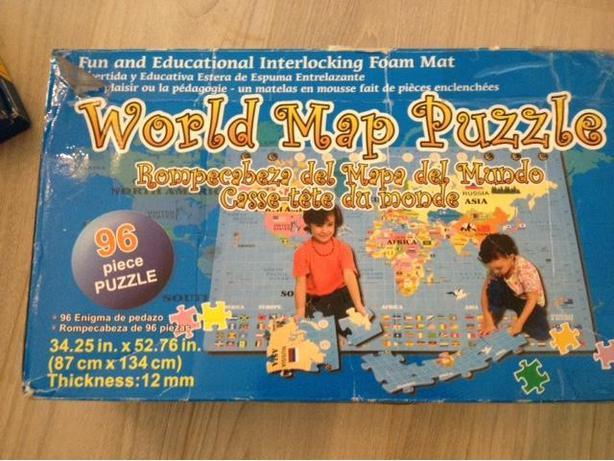Large world map puzzle interlocking foam playmat saanich victoria large world map puzzle interlocking foam playmat sciox Image collections