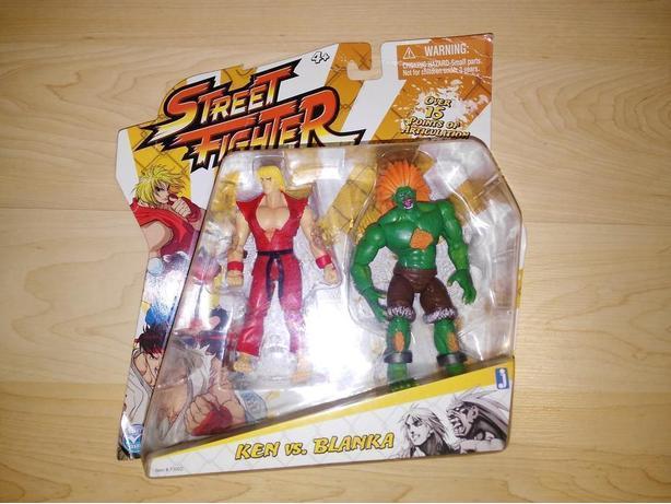 Ken vs Blanka Street Fighter Figures NEW In BOX