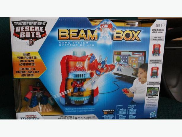 Transformers Rescue Bots Beam Box Game System Video Game Adventures New!