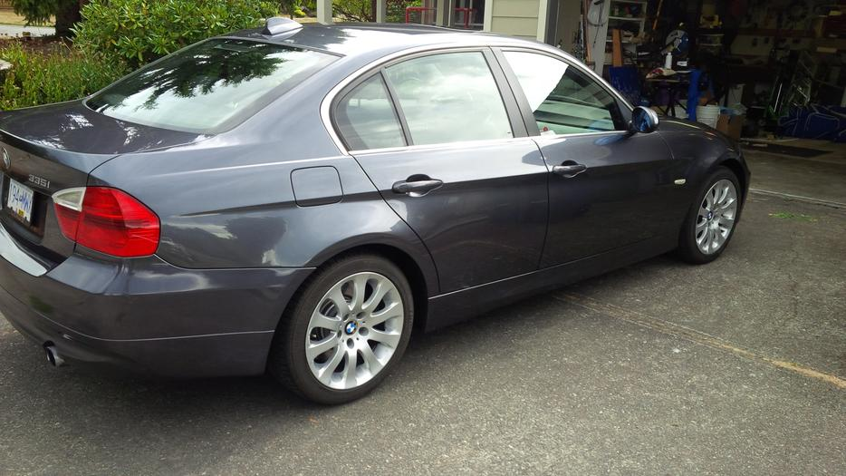 Bmw 335i 4 Door Charcoal Grey With Black Interior Saanich