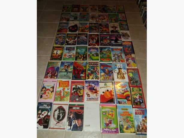 Kids VHS Films in Plastic Cases