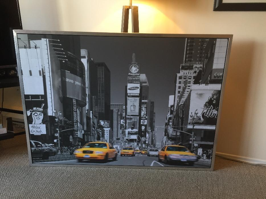 Ikea Large New York Times Square Print Metal Frame