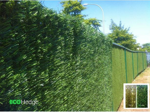 ecohedge green privacy hedge panels for chainlink fence