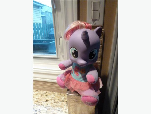 My Little Pony Tickle n Gigglin Lily Baby Plush Doll Purple Unicorn