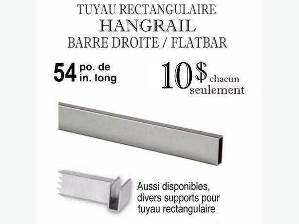 54 po BARRE DROITE FLATBAR ~ TUTAU RECTANGULAIRE ~ FLAT-BAR