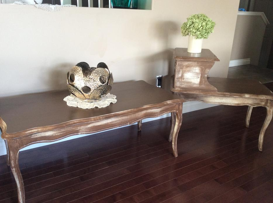French Provincial Coffee And 2 End Tables North Regina