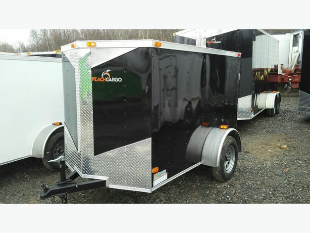 NEW 5X8 + V NOSE ENCLOSED TRAILERS(3500lbs AXLE)
