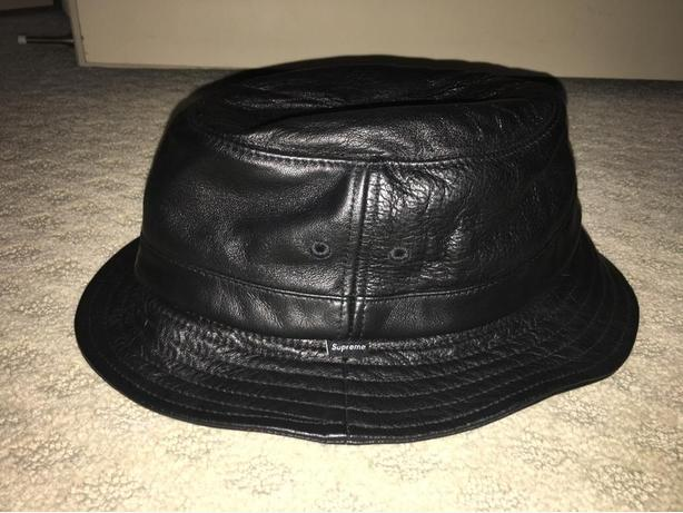 ee7aebcf2e338f Supreme Leather Bucket Hat - Size Small/Medium Victoria City, Victoria