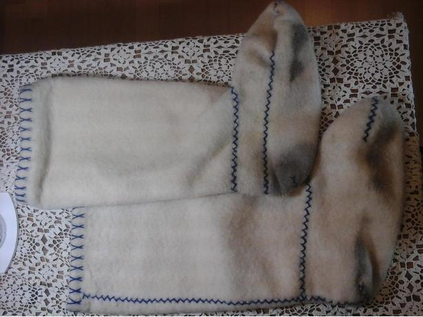 Felted boot liners -- Inuit or Cree for kamiks or rubber boots