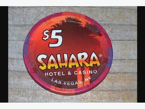 vintage sahara las vegas casino chip