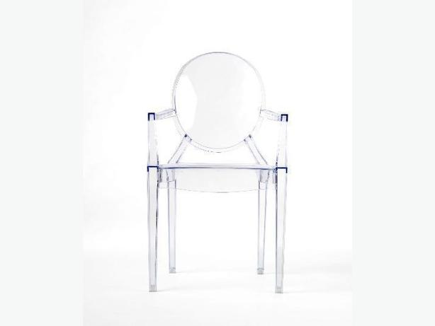 Philippe Starck Style Ghost Arm Chair - Louis XV style- Transparent