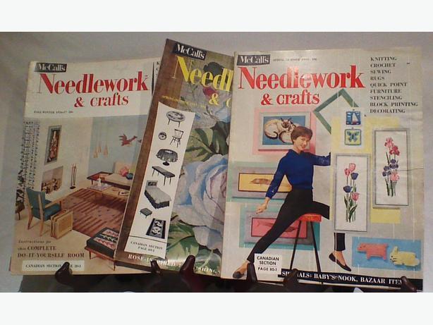 Vintage 50s McCall's needlework magazines