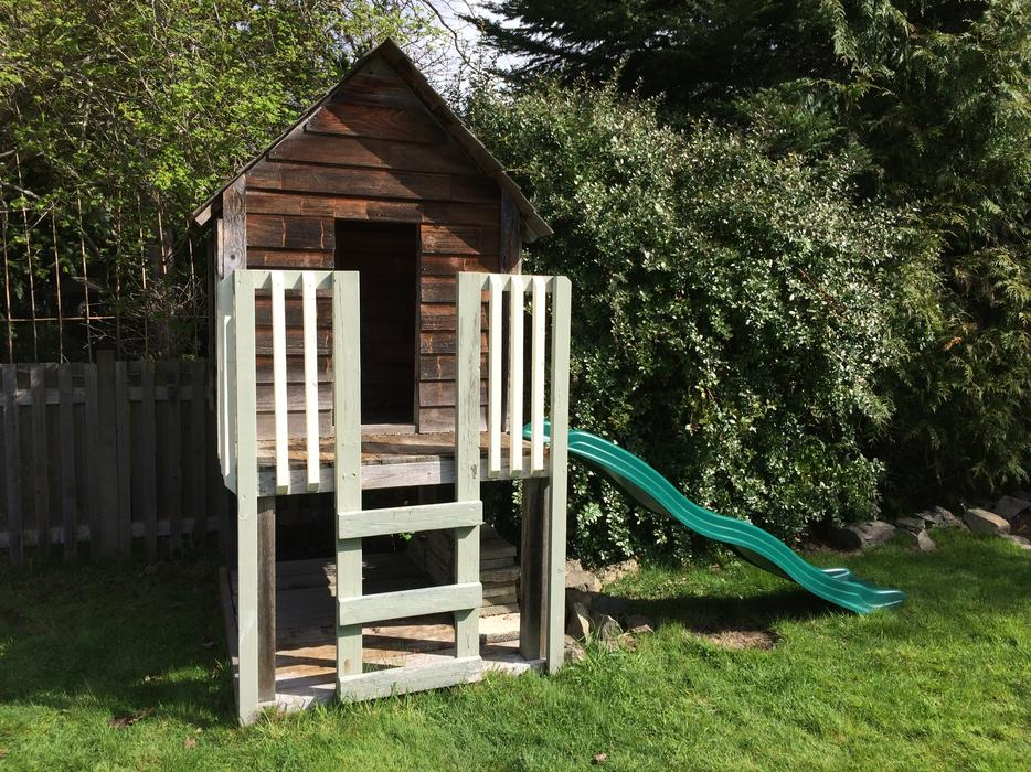 Free playhouse slide rope ladder oak bay victoria for Free playhouse plans with slide
