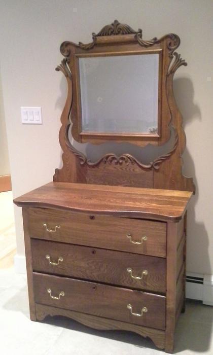 Solid Wood Antique Mirror And Dresser Saanich Victoria