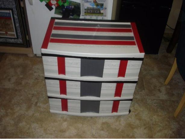Plastic Storage Drawers w/ Cd Stand BUNDLE