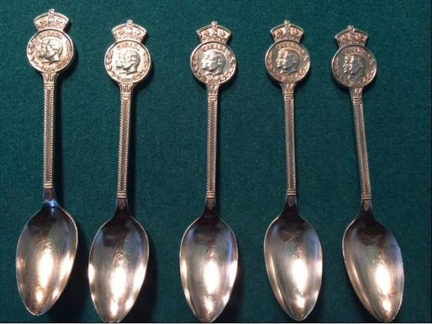 4 1939 King George VI spoons