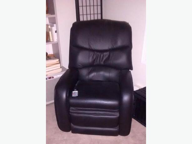 Berkline Massage recliner armchair.