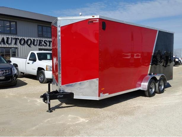 "2017 RC Trailers 7 x 18 x 84"" High V-Nose Enclosed Cargo Trailer"