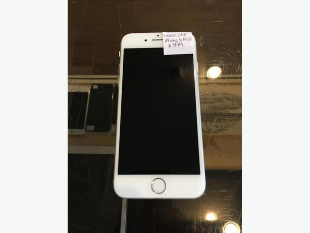 UNLOCKED iPhone 6 16 GB Silver w/ Warranty!
