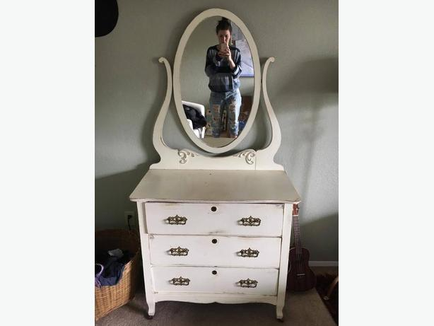 Refurbished Antique Vanity Dresser With Mirror From The 1800 39 S