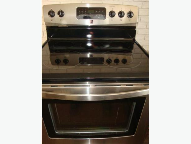 Flat Top Stove ~ Kenmore stainless steel flat top stove self clean oven